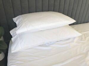 NEW Laura Ashley KING size white Pillowcase     51x91cm    400TC cotton sateen