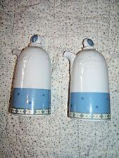 Wedgwood Capri Oil & Vinegar Porcelain Bottles Cruet Set Portugal Never Used