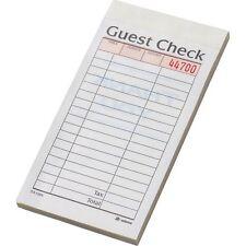 "Adams Numbered Guest Checks, 3-5/16"" x 6-1/4"", 10 ct (Sa108A) 50 Checks per Book"