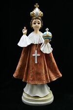 "18"" Infant Jesus of Prague Statue Sculpture Vittoria Collection Made in Italy"