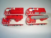 EUROPEAN FIRE ENGINES MODEL CARS SET 1:160 N KINDER SURPRISE PLASTIC MINIATURES