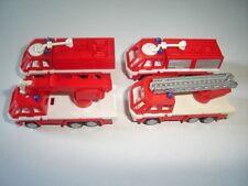 EUROPEAN FIRE ENGINES MODEL CARS SET 1:160 N KINDER SURPRISE PLASTIC MINIATURES