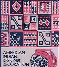 AMERICAN INDIAN Design & Decoration BOOK~Inca~Navaho~Hopi~Apache~MOTIFS DESIGNS