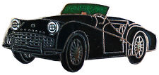 Triumph TR3A/B car cut out lapel pin - Black