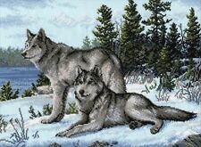 Oven Cross Stitch kit - Wolves