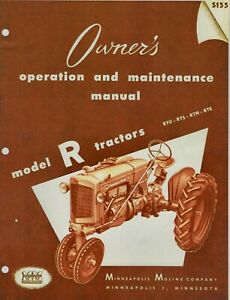 Minneapolis Moline R Owner's Operation and Maintenance Manual - reprint