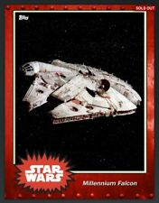 digital 5CC red rust MILLENNIUM FALCON star wars CARD TRADER topps ULTRA RARE