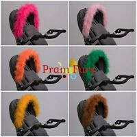 Bright Colour Furs Pram Hood Fur Trim Baby Pram Accessory Buggy Universal Fit