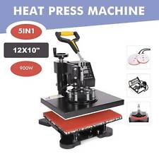 12x10 5 In 1 Combo Digital Heat Press Machine For T Shirt Mug Hat Printer Diy
