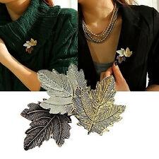 Damen Jewelry Vintage Brooch Golden/Silber Plated Maple Blatt Brosche Pins Neu