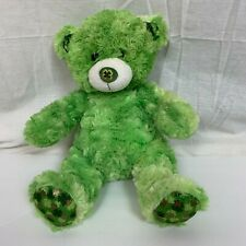 Build A Bear Workshop BABW Green St Patrick's Day Teddy Plush Animal Shamrocks