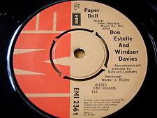 """DON ESTELLE & WINDSOR DAVIES - PAPER DOLL    7"""" VINYL"""