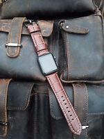 piel marrón correa de Reloj para Apple Reloj 42mm SERIE 1 2 3 BLACK fijaciones