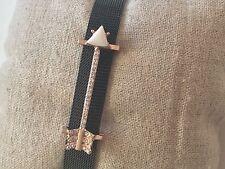 Large Pave Arrow 10mm Slide Keep Bracelet Charms