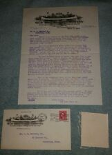 ORIGINAL 1914 OLD TOWN CANOE COMPANY LETTERHEAD ENVOLOPE MAINE 1914 POSTMARK