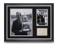 Don Revie Signed 16x12 Framed Photo Display Leeds Utd FA Cup 1972 Autograph