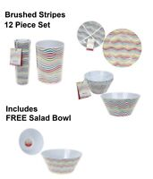 Melamine Camping Caravan Picnic Outdoor Dining Dinner Plate Set and singles