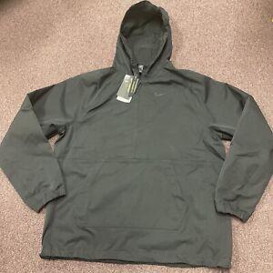 Nike Mens Repel Shield Packable Anorak Golf Jacket SZ Large Black/Black $110