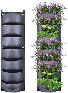 7 Pocket Vertical Greening Hanging Wall Garden Plant Grow Pot Bag Planter