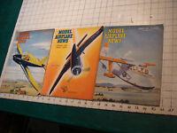 MODEL AIRPLANE NEWS MAGAZINES 1946 THREE ISSUES jan, feb, march