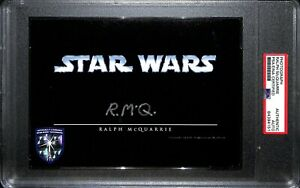 RALPH McQUARRIE Signed Auto STAR WARS 5x7 Official Pix Photo PSA/DNA SLABBED