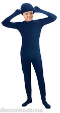 I'M INVISIBLE BLUE SKIN SUIT CHILD HALLOWEEN COSTUME SIZE LARGE (12-14)