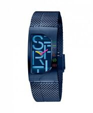 Esprit Damenuhr Uhr Houston Bold Edelstahl Milanaise Blau ES1L046M0085