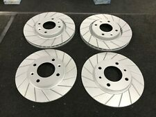 PEUGEOT 206 GTI PERFORMANCE GROOVED BRAKE DISC FRONT REAR BRAKE DISCS