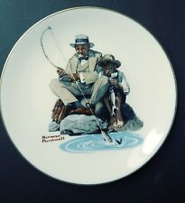 """""""Catching the Big One"""" Collector Used Plate By Norman Rockwell Limited Edition"""
