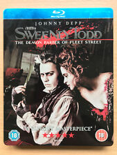 JOHNNY DEPP Sweeney Todd ~ 2007 Musical Clásica Raro UK Blu-Ray Caja metálica