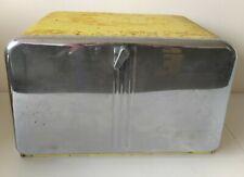 More details for retro vintage mid century 1950s tala bread bin no 76 chrome yellow rare kitchen