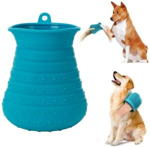 Cebese Dog Paw Cleaner Cup, 2 in 1 Portable Pet Foot Plunger Washer with Hook &