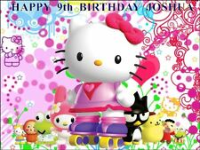 "PARTY PACK - HELLO KITTY  PERSONALIZED 10 x 7.5"" EDIBLE ICING CAKE TOPPER"