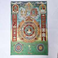 """36""""Tibet Tibetische Tuch Seide Mandala 9 Palast acht Diagramme Thangka Wandbild"""
