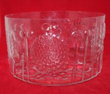 "Nuutajarvi Iittala Arabia Finland Flora Glass Bowl 9 5/8"" Wide Clear Oiva Toikka"