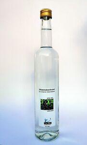 Schwarzer Johannisbeerbrand, Schnaps, Destillat, 0,5 Liter Flasche