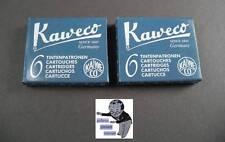 # KAWECO Cartuchos 2 paquetes tinta azul / Negro NUEVO #