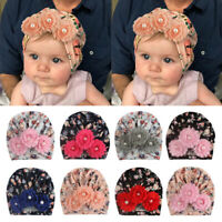 Newborn Infant Baby Cute Soft Printed Flower Turban Hat Toddler Kids Indian Cap