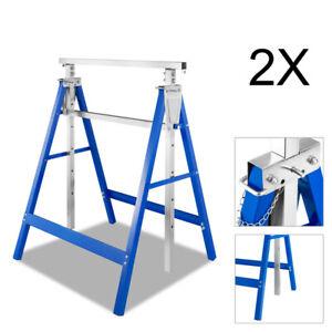 Gerüstbock Arbeitbock 2x Klappbar Werkzeugbank Stahl Gerüst Metallbock