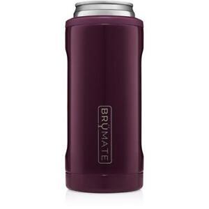 Brumate Hopsulator Slim Can Cooler Tumbler 12 oz Drink Holder Plum