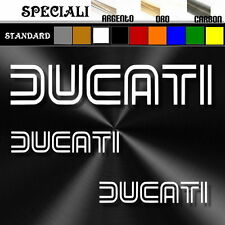 set adesivi sticker DUCATI decal prespaziato,auto,moto,casco 19,5cm / 9,5cm