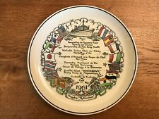 Holland-America Line 1961 1st Around-the-World Cruise Farewell Dinner Menu Plate