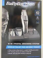 Babyliss For Men 10 in 1 Pivotal Grooming System - Face & Body Trimmer BA119456