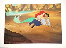 "Disney Art Print Lithograph 11""x14"" Little Mermaid Princess Ariel Prince Eric"