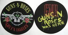 Guns N 'ROSES DJ SLIPMAT Feltro Tappeto Los F' n Angeles/cosa here - 2er Set