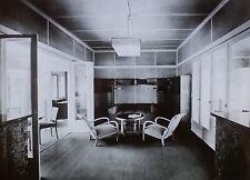 Wachsende Haus Living Room by Martin Wagner, Magic Lantern Glass Photo Slide