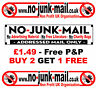 No Junk Mail Sign - Letterbox/Mailbox Sticker, Addressed Mail Only (Id:LIT)