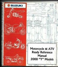 "Suzuki Motorcycle & Atv Ready Reference Manual 2000 ""Y"" Models 99923-32000"