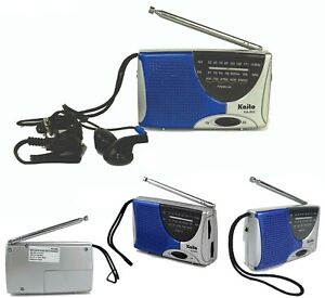 AM FM Radio Portable Radio Super Pocket Size Small Radio Radio With Earphone