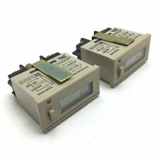 Lot of 2 Redington 7620-6T0 Hourmeter Counter, 1sec On, 1/10 Hours, 20ms